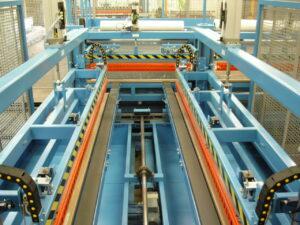 Alfatechnics Farbal langslassysteem dubbelzijdig voor PE folie tot 120mµ dkte, gesloten krimpverpakking.