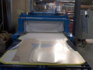 Alfatechnics, krimpverpakking, binnenbekleding voor bestelwagen, krimpfolieverpakking PE 80mµ.
