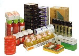 Krimpfolie verpakkingen eindprodukten voor consumentenverpakking met polyolefinefolie.