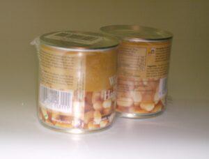 Folieverpakking als setverpakking van twee stuks met prijskorting. Promo verpakking, volledig gesloten krimp verpakking.
