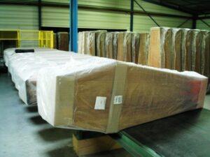 Alfatechnics Farbal krimpverpakking transportverpakking doodskisten polyethyleen mono-axiale folie gekrompen