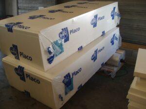 Alfatechnics, stapel isolatieplaten, krimpverpakking, bundelverpakking, bundelpakker.